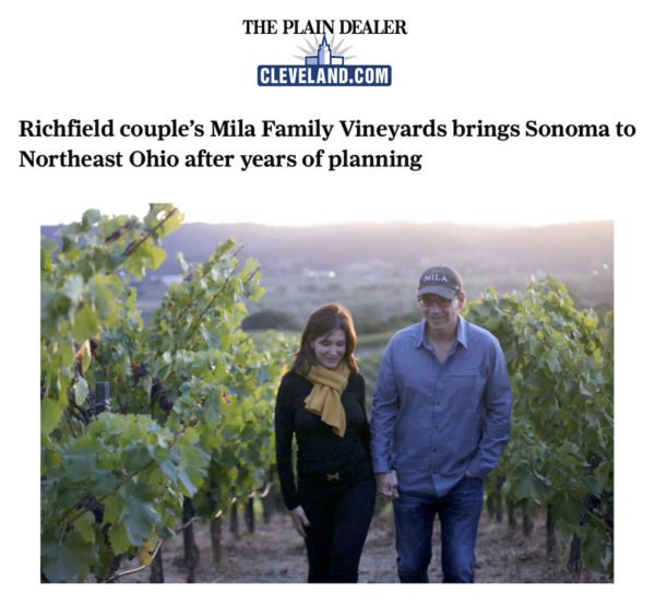 Loretta and Michael in the vineyard.