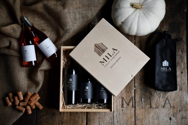 Mila bottles, fall scene